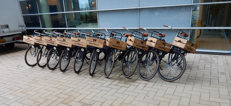 Monsterboard fietskrat - bedrijfsfietsen / reclamefietsen